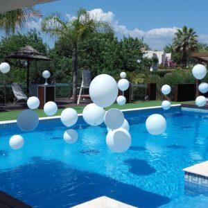 Decoração Balões Piscina | Oficina de Sonhos - Animação e Decoração de Eventos Algarve