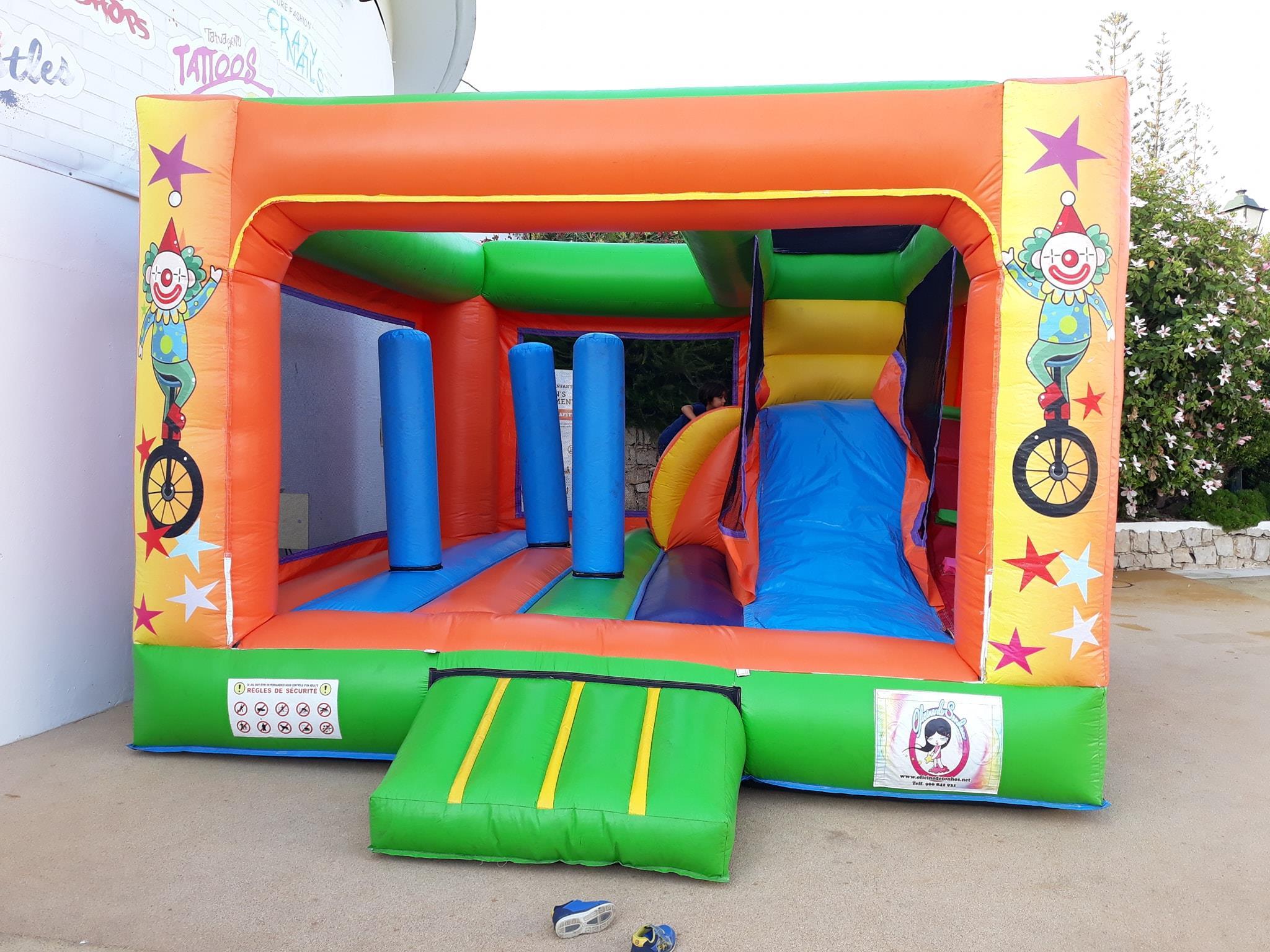 Insuflável Circo | Aluguer de Insufláveis Oficina de Sonhos Algarve