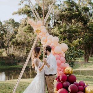 Arco de Balões Orgânico Weddings   Oficina de Sonhos - Animação e Decoração de Eventos Algarve