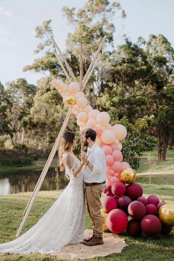 Arco de Balões Orgânico Weddings | Oficina de Sonhos - Animação e Decoração de Eventos Algarve