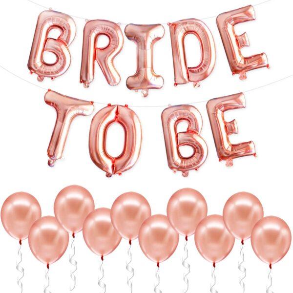 Balões Foil BRIDE TO BE + 20 balões de Latex com Hélio