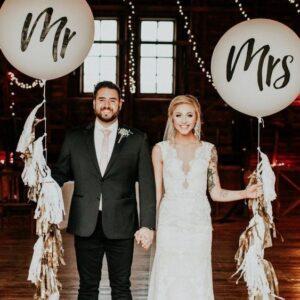 Balões Mr & Mrs Weddings | Oficina de Sonhos - Animação e Decoração de Eventos Algarve