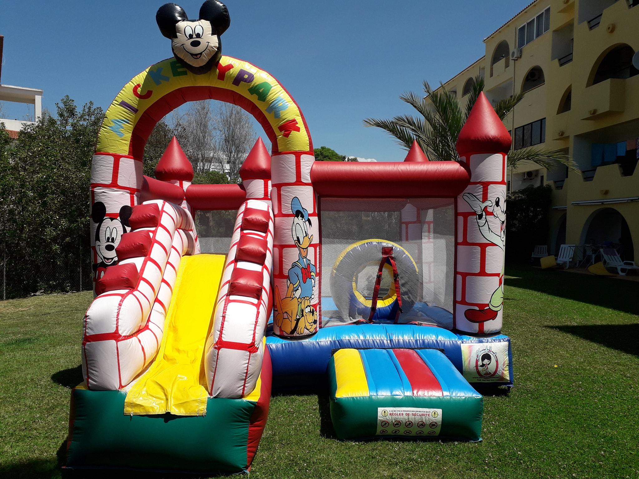 Insuflável Mickey Park | Aluguer de Insufláveis Oficina de Sonhos Algarve