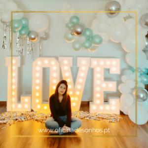 Letras Love LED Iluminadas | Oficina de Sonhos - Animação e Decoração de Eventos Algarve