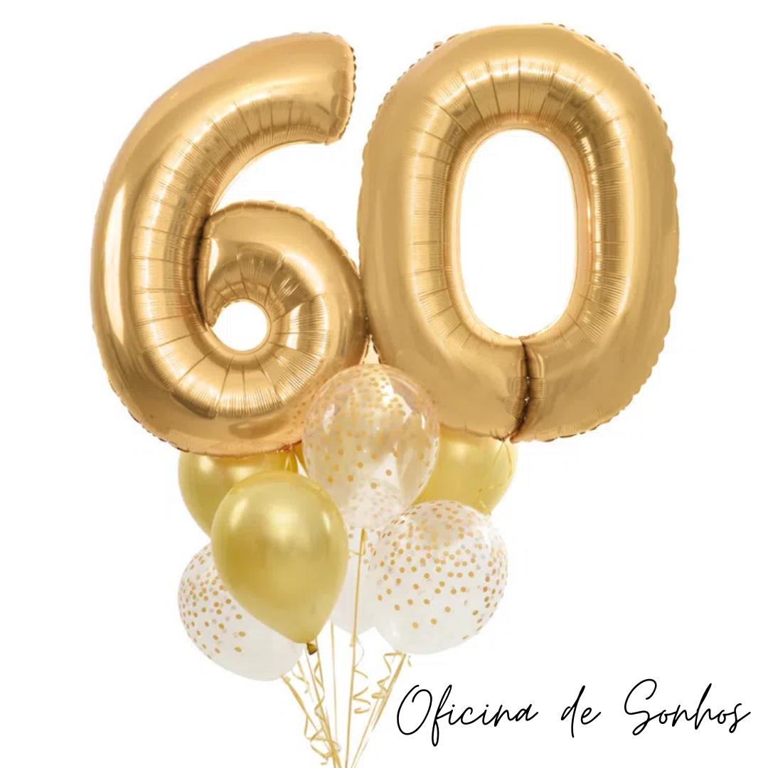 Bouquet Balão Numero | Surpresas com Balões Algarve - Oficina de Sonhos