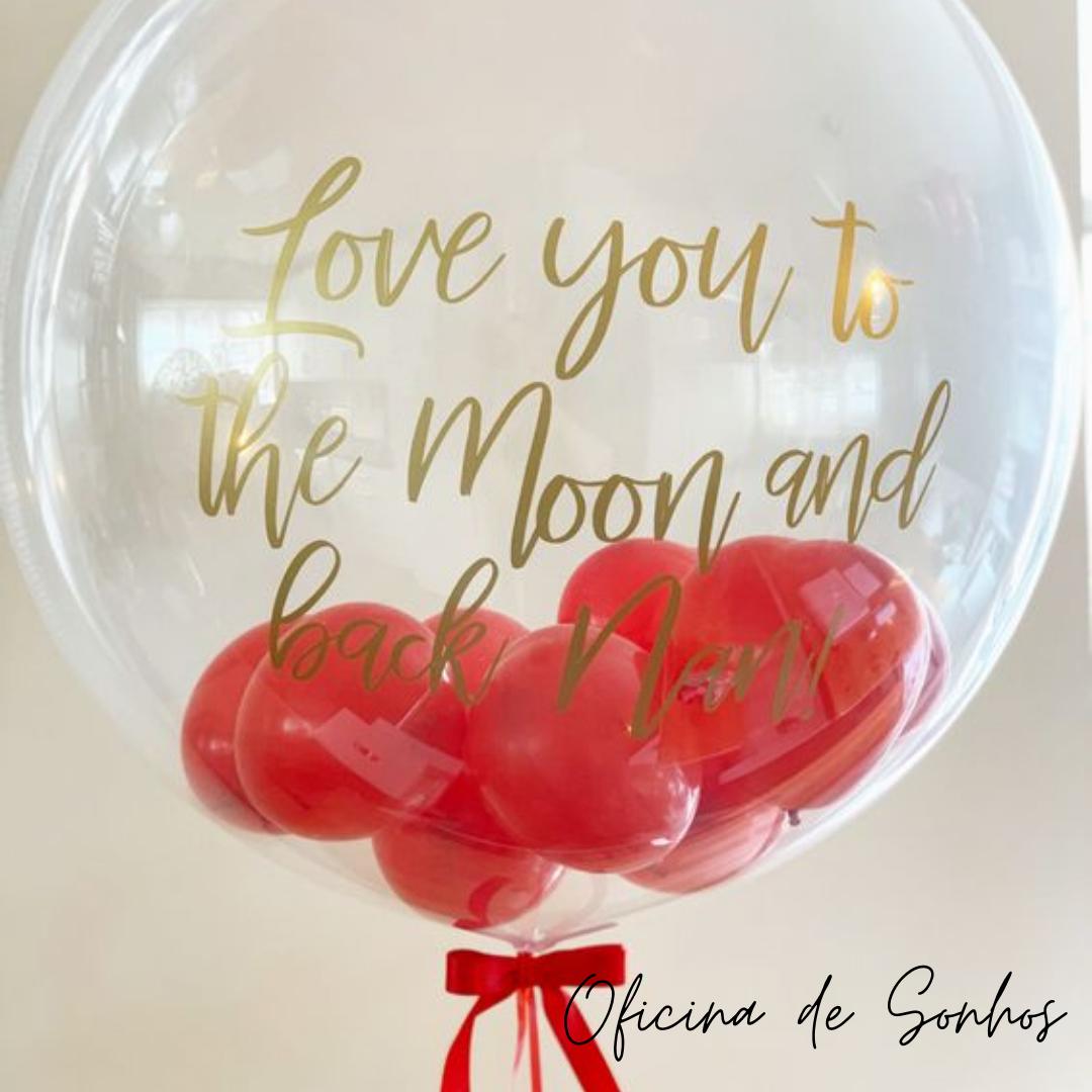 Balão Bubble Personalizado | Surpresas com Balões Algarve - Oficina de Sonhos