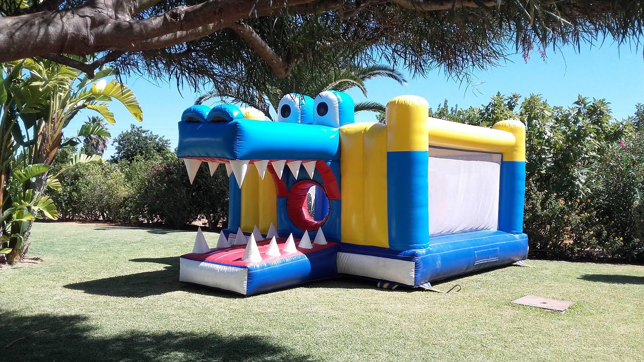 Insuflável Crocodilo | Aluguer de Insufláveis Oficina de Sonhos Algarve