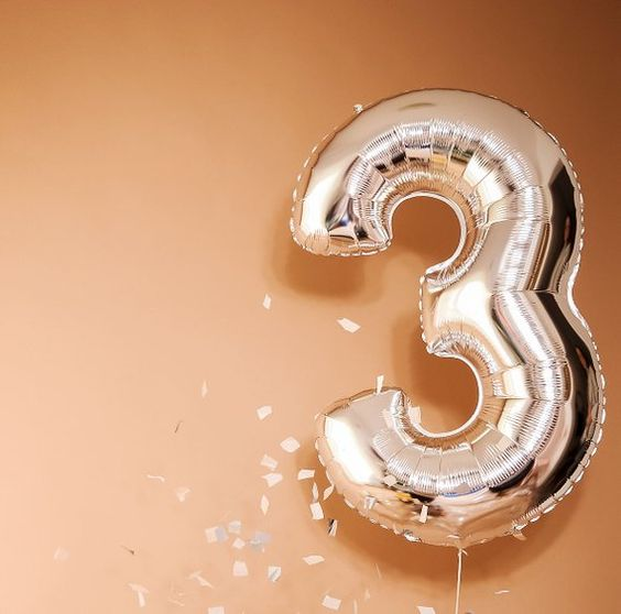 balão numero foil