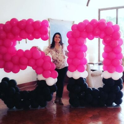Decoração de festas - decoração Balões idade - Oficina de Sonhos - SERVIÇOS DE ANIMAÇÃO INFANTIL ALGARVE