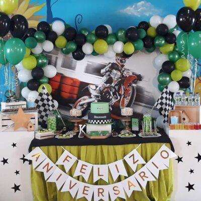 Decoração festas aniversário - Decoração motas - SERVIÇOS DE ANIMAÇÃO INFANTIL ALGARVE
