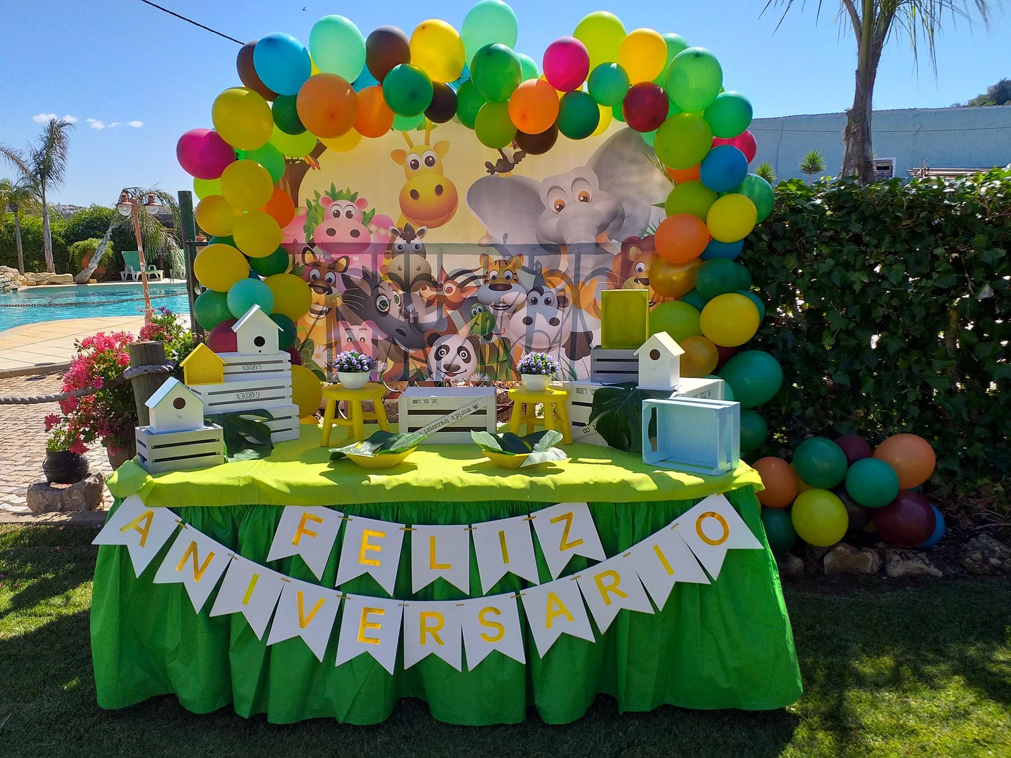 Decoração Temática Selva | Oficina de Sonhos - Animação e Decoração de Eventos Algarve