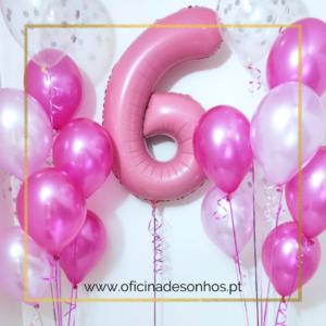 Pack Aniversário Balões | Surpresas com Balões Algarve - Oficina de Sonhos