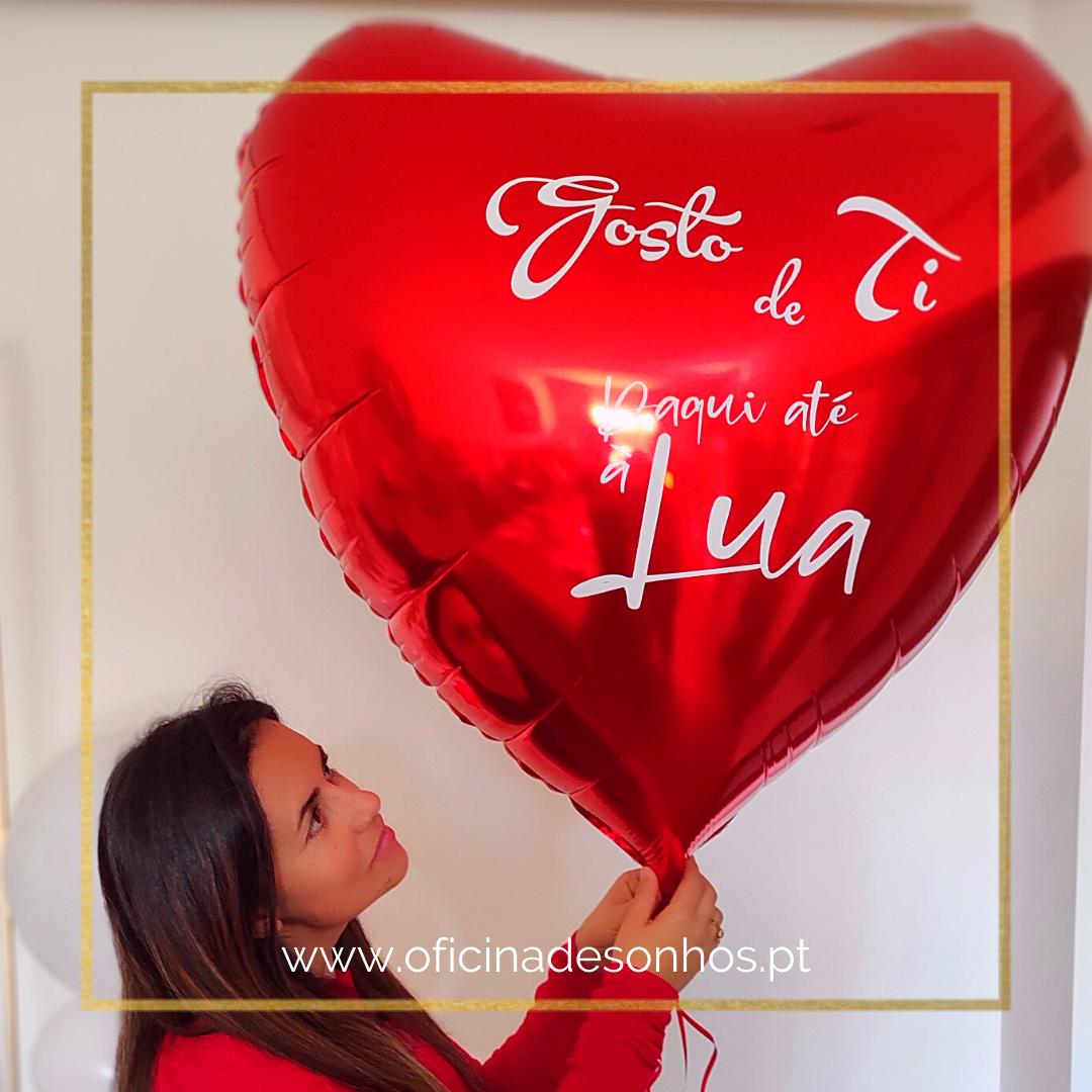 Balão Coração Personalizado | Supresas com Balões - Algarve