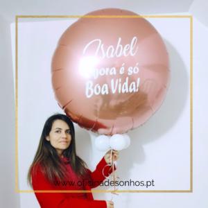 Balão Gigante Personalizado | Surpresas com Balões Algarve - Oficina de Sonhos