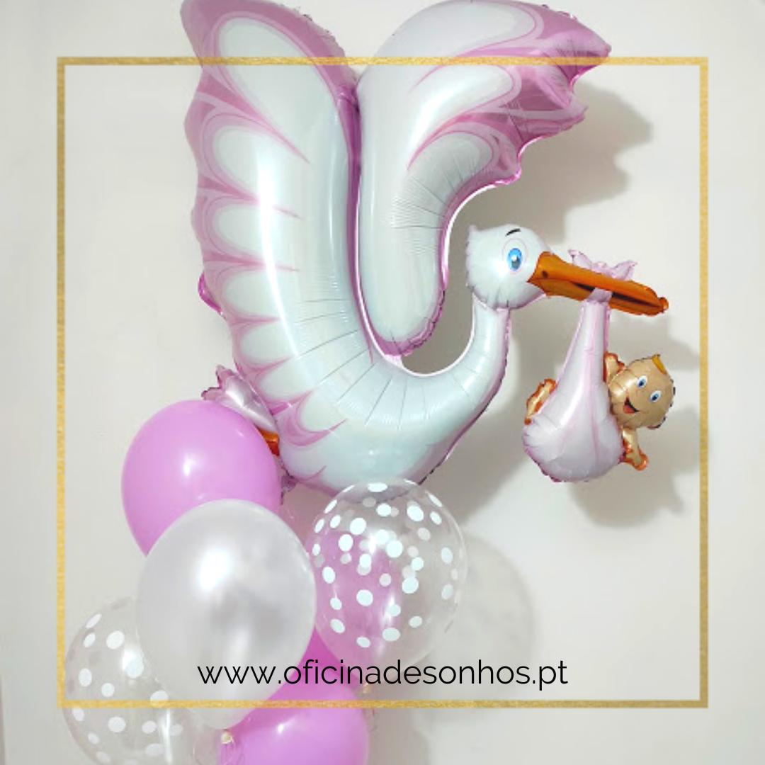Bouquet de Balões Nascimento | Surpresas com Balões Algarve - Oficina de Sonhos