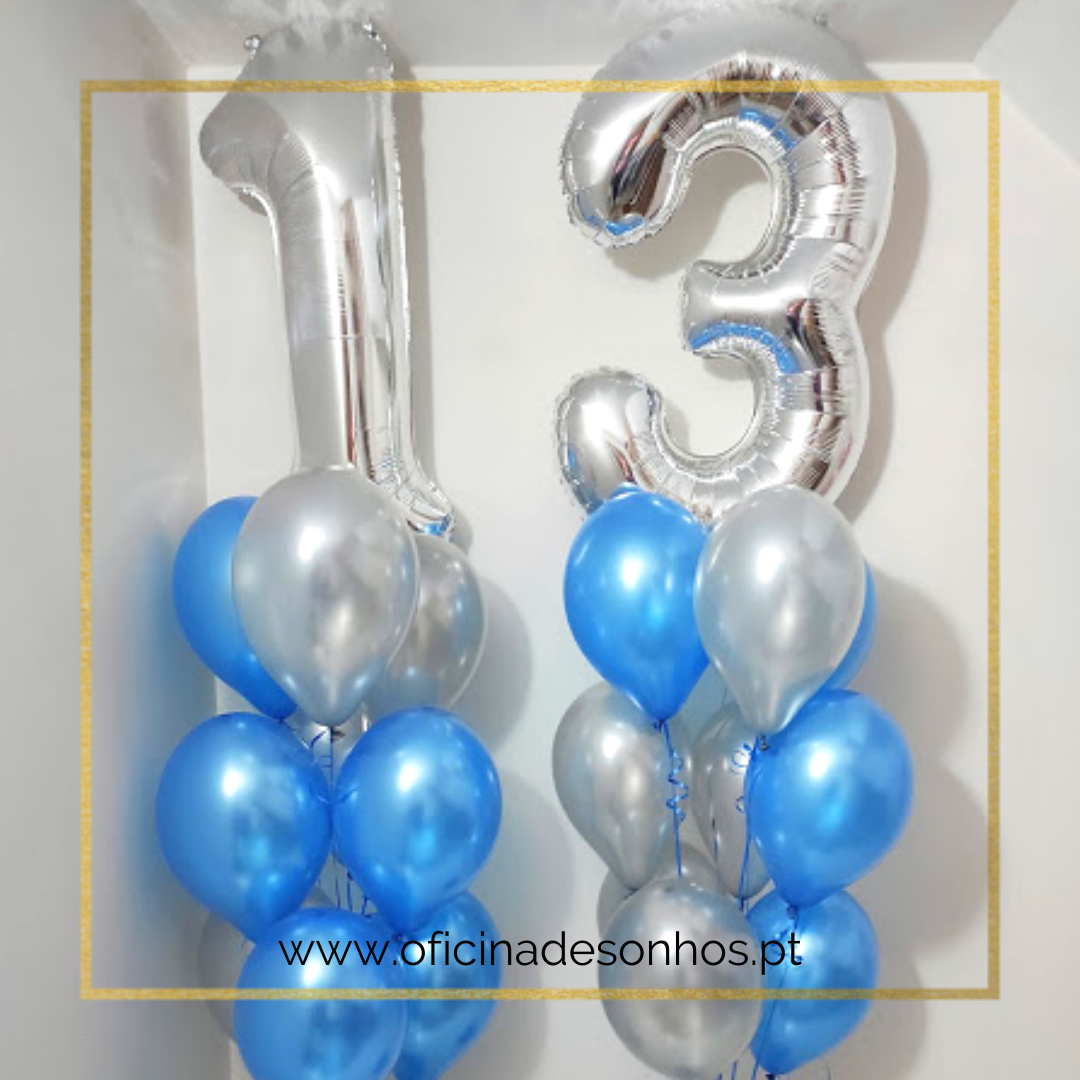 Conjunto de Balões Número | Surpresas com Balões Algarve - Oficina de Sonhos