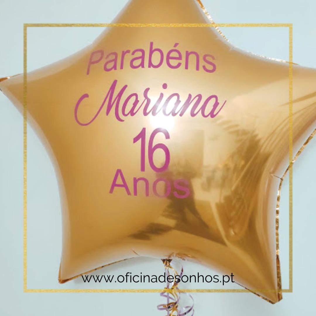Balão Estrela Personalizado | Surpresas com Balões Algarve - Oficina de Sonhos
